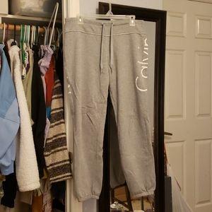Grey Calvin Klein sweatpants